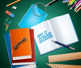 Student book vector