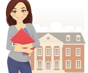 Student cartoon character vector
