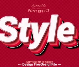Style 3d font effect editable text vector