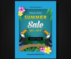 Summer special promotion poster vector