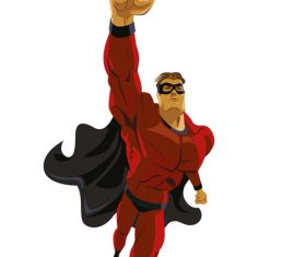 Super man cartoon illustration vector