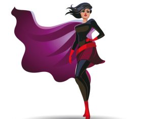Super womans cartoon illustration vector