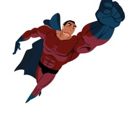 Superheroes cartoon illustration vector