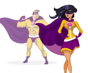 Superman cartoon character vector