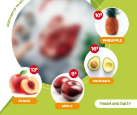 Supermarket Fruit Promotion Psd Flyer Template