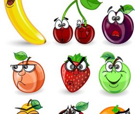 Surprised fruit vector