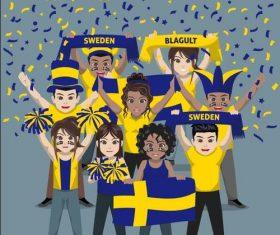 Sweden fan club vector