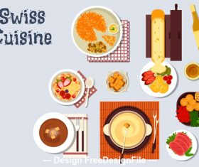 Swiss cuisine vector