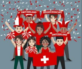 Switzerland fan club vector