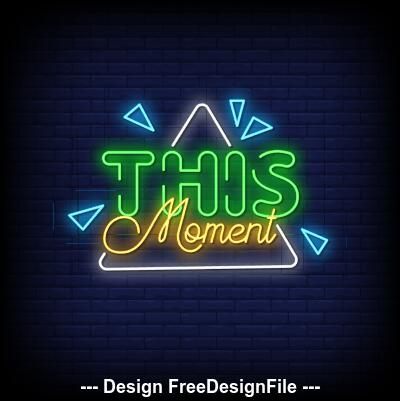 THIS neon signs style text vector