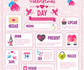 Tags infographics valentines day vector