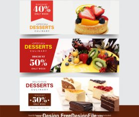 Tempting food pictures flyer vector
