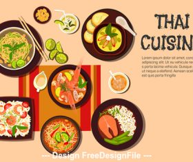 Thai cuisine vector