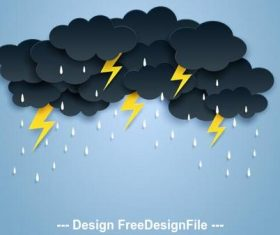 Thunderstorm weather vector