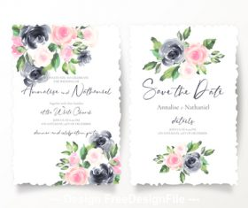 Tiling wedding invitations template vector