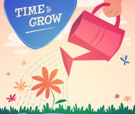 Time to grow illustration vector