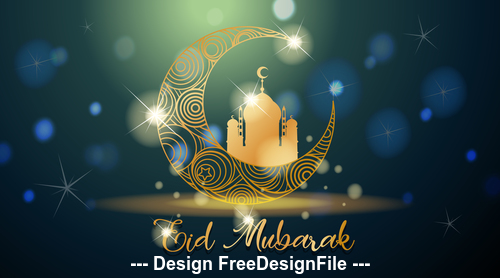 Tradition culture eid mubarak muslim background vector