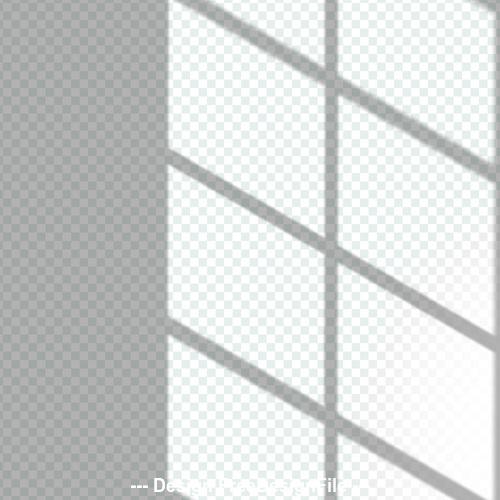 Transparent window shadow effect vector