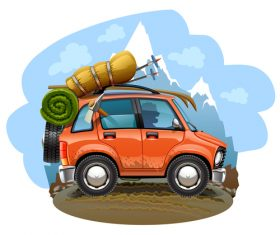 Travel cartoon vector