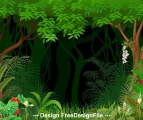 Tree nature landscape illustration vector