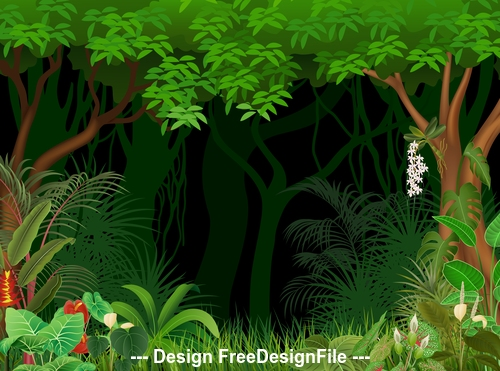 Tree nature landscape illustration vector
