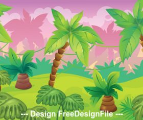Tropical plant illustration vector
