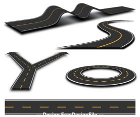 Turntable road fork icon vector