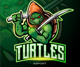 Turtles logo vector