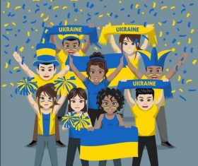 Ukraine fan club vector