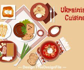 Ukrainian cuisine vector