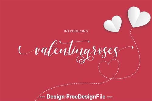 Valentina roses font