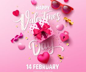 Valentine Day Sale Poster Vector Design
