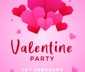 Valentine party vector