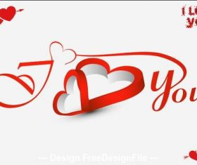 Valentine romantic greeting card vector