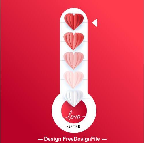 Valentines Day thermometer vector