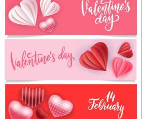Valentines day card banner vector