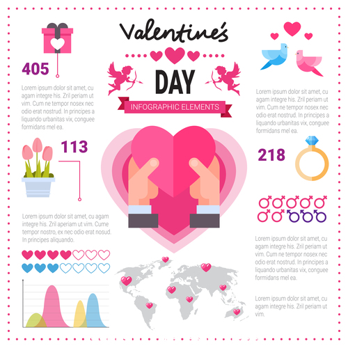 Valentines day element vector