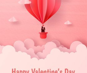 Valentines day flyer vector