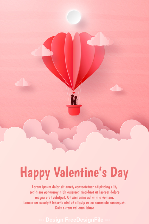 Valentines day flyer vector