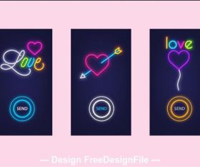 Valentines day no mobile app banner vector