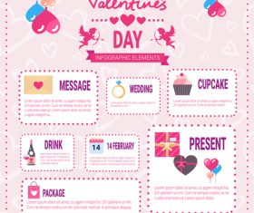Valentines day options infographics vector