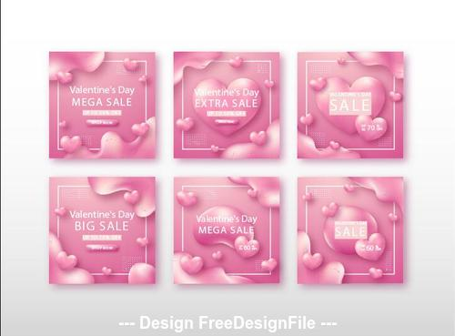 Valentines day promotion banner vector