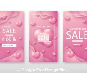 Valentines day shopping banner vector