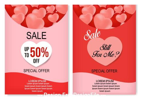 Valentines day special sale card vector