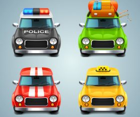 Various cars cartoon vector