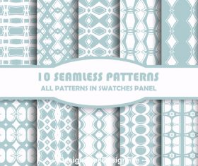 Various rhombus seamless patterns vector