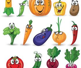 Vegetable cartoon icon vector