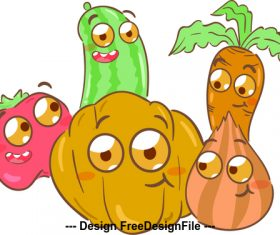 Vegetable cartoon illustration vector
