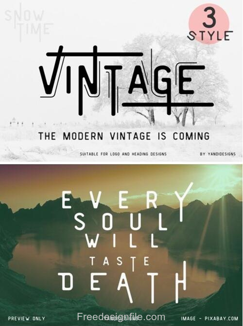 Vintage Smooth Fonts