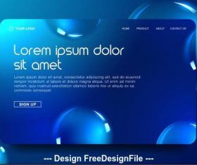 Website vector template